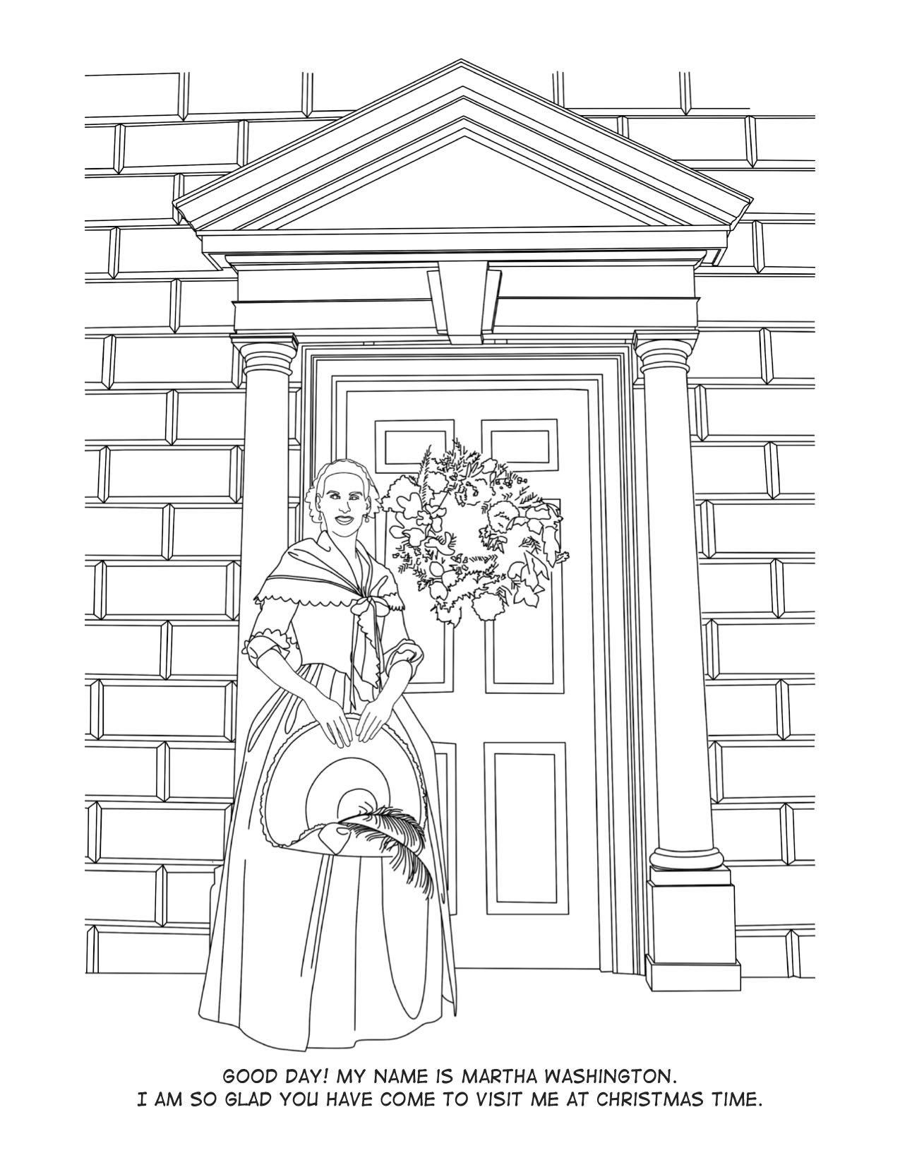 2014 Colonial Christmas Coloring Book Cover Sample Page